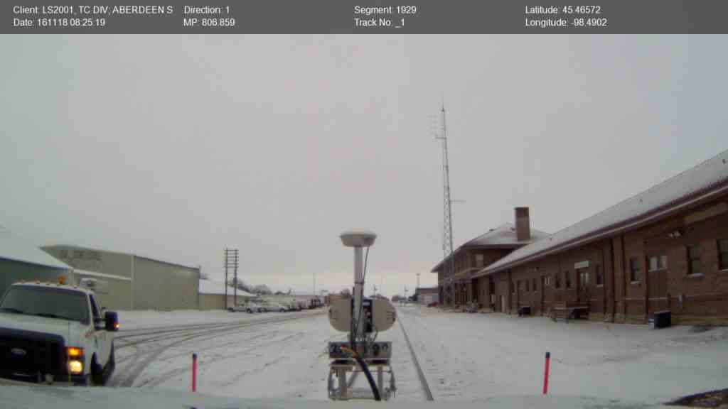 A cold and snowy morning in Aberdeen, South Dakota. It is the old station building on right.